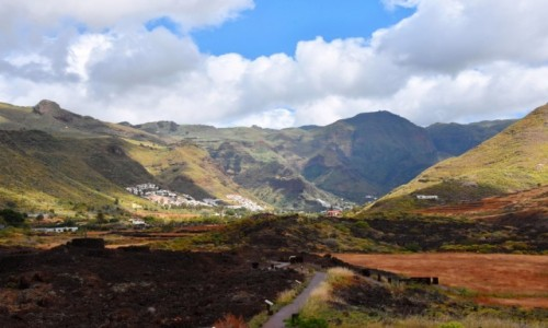 HISZPANIA / Gran Canaria / Maipes de Agaete / Nekropolia w Maipes