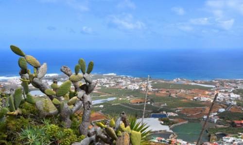 HISZPANIA / Gran Canaria / Góra Arucas / Widok na północne wybrzeże wyspy