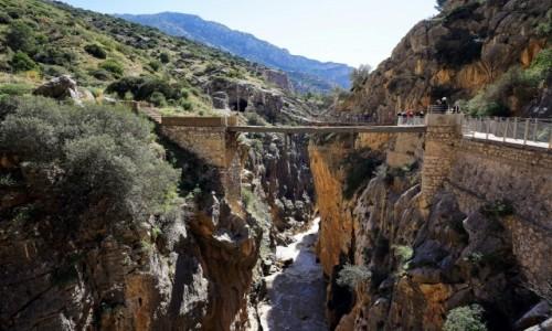 Zdjęcie HISZPANIA / Malaga / Caminito del Rey / Most nad wąwozem
