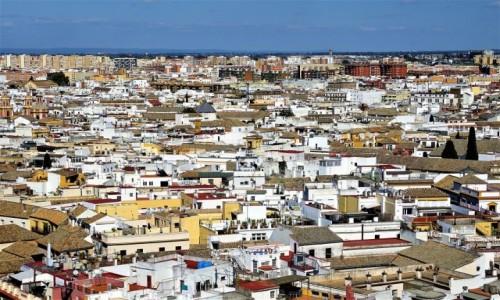 HISZPANIA / Andaluzja / Sevilla, z wieży katedry / Dachy