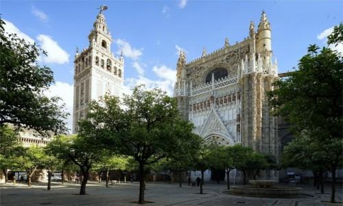 HISZPANIA / Andaluzja / Sevilla / Katedra, ogród pomarańczowy