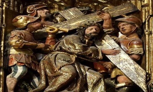 HISZPANIA / Andaluzja / Sevilla, katedra / Ołtarz główny, scena Męki Pańskiej