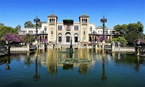 HISZPANIA / Andaluzja / Sewilla, Parque de María Luisa / Pałac Mudéjar