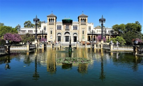 Zdjecie HISZPANIA / Andaluzja / Sewilla, Parque de María Luisa / Pałac Mudéjar