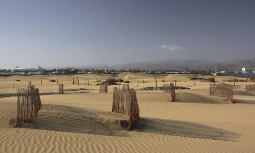 Zdjecie HISZPANIA / Wyspy Kanaryjskie - Gran Canaria / Dunas de Maspalomas / rezerwat piasku