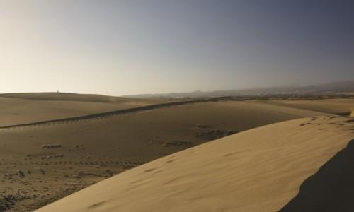 Zdjecie HISZPANIA / Wyspy Kanaryjskie - Gran Canaria / Dunas de Maspalomas / spacery po górach piachu
