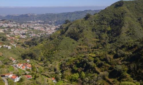 Zdjecie HISZPANIA / Wyspy Kanaryjskie - Gran Canaria / Valleseco / widok na miasteczkoTeror