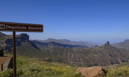 Zdjecie HISZPANIA / Wyspy Kanaryjskie (Gran Canaria) / punkt widokowy / Degollada Becerra