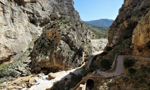 HISZPANIA / Andaluzja  / Caminito del Rey / Ponad rzeką Guadalhorce