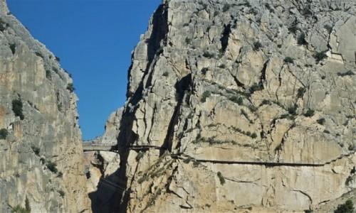 Zdjęcie HISZPANIA / Andaluzja / El Chorro / El Caminito del Rey, widok z drogi