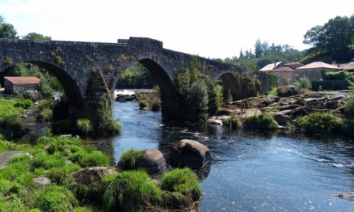 HISZPANIA / Galicja / A Ponte Maceira / Most