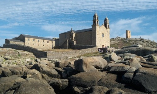 HISZPANIA / Galicja / Muxia / Kościół nad Oceanem Atlantyckim