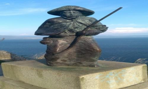 Zdjęcie HISZPANIA / Galicja / Finistera / Pomnik pielgrzyma