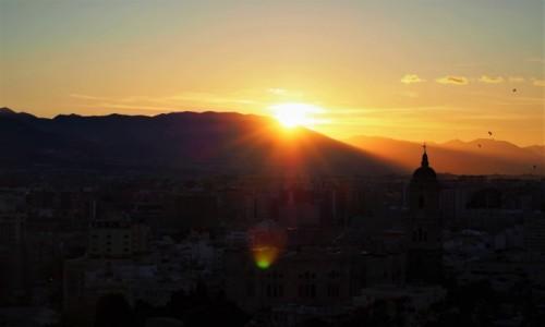 Zdjecie HISZPANIA / - / Malaga / Malaga - zachód Słońca