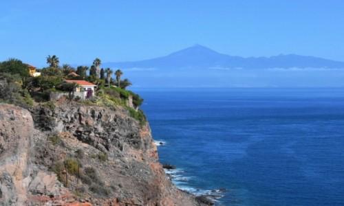HISZPANIA / La Gomera / San Sebastian de la Gomera / Z widokiem na Teide