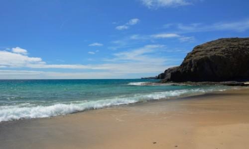 Zdjecie HISZPANIA / Wyspy Kanaryjskie - Lanzarote / Playa Blanca / plaża Papagayo