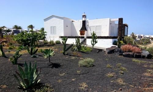 HISZPANIA / Wyspy Kanaryjskie / Lanzarote / Ogródek