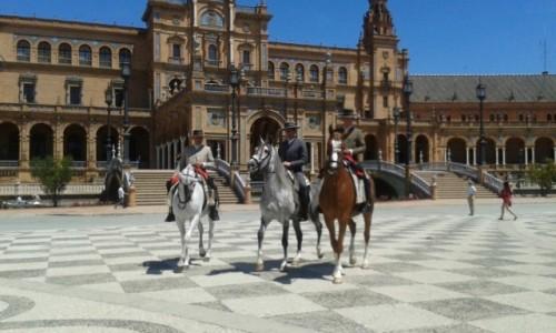 HISZPANIA / Andalusia / Sevilla - Plaza Espana / Feria de Abril