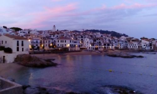 Zdjęcie HISZPANIA / Katalonia / Calella de Palafrugell / Calella de Palafrugell o zmierzchu