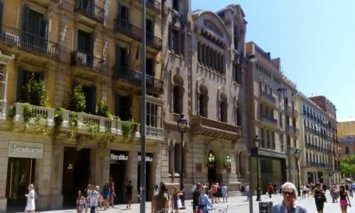 Zdjecie HISZPANIA / Katalonia / Barcelona / Ulica w Barcelonie