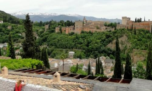 Zdjecie HISZPANIA / Andaluzja / Granada / Z widokiem na Alhambrę