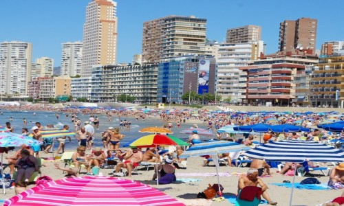 HISZPANIA / Alicante / Benidorm / Na plaży
