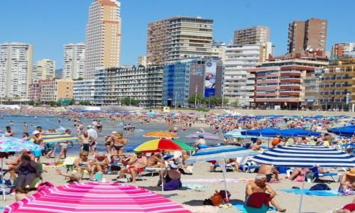Zdjecie HISZPANIA / Alicante / Benidorm / Na plaży