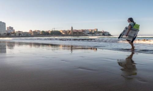 Zdjecie HISZPANIA / Asturia / Gijon / nad Atlantykiem