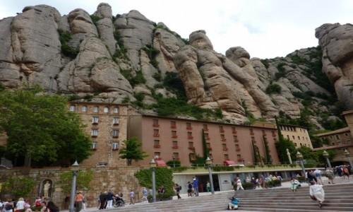 Zdjecie HISZPANIA / Katalonia / Montserat / Skaly przy Klasztorze Czarnej Madonny