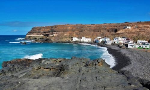HISZPANIA / Fuertventura / Los Molinos / Widok na dawną wioskę rybacką