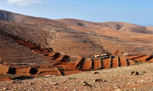 HISZPANIA / Fuertventura / interior widziane po drodze / Widziane po drodze