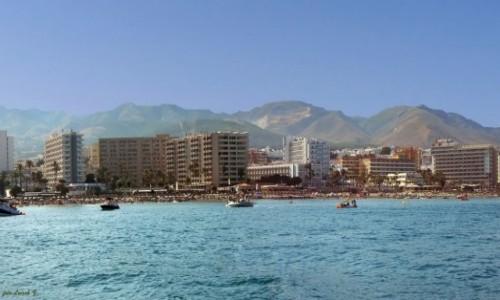 Zdjecie HISZPANIA / Costa del Sol. / Benalmadena. / Plaże Benalmadeny z rejsu statkiem.
