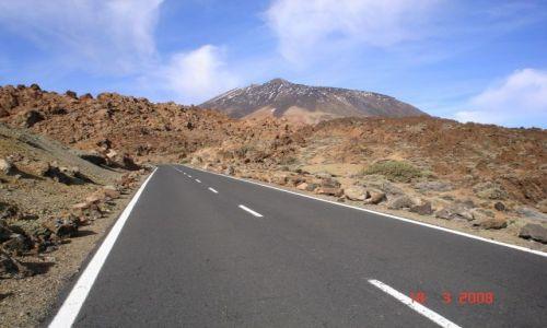 Zdjecie HISZPANIA / Teneryfa / masyw górski Teid / Droga do Pico del Teide
