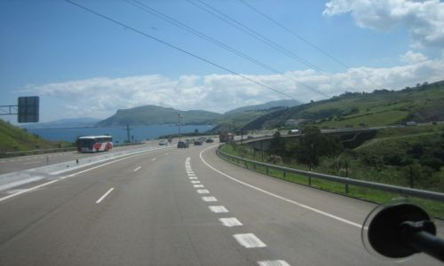 Zdjęcie HISZPANIA / Cantabria / Autovia Cantabrico / Widok na Atlantyk
