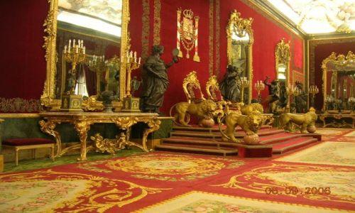 HISZPANIA / brak / Madryt / Pałac Królewski - Sala Tronowa