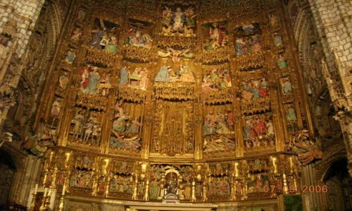 HISZPANIA / -Kastylia - La Mancha / Toledo / Katedra - Główny Ołtarz