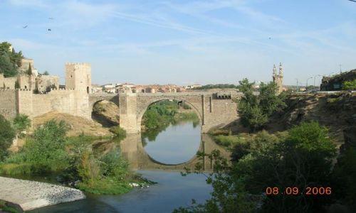 HISZPANIA / -Kastylia - La Mancha / Toledo / Most Alcantara