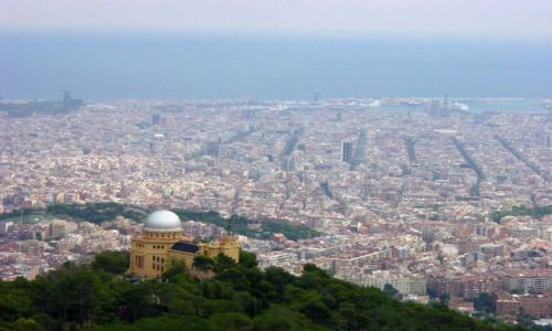 Zdjecie HISZPANIA / Katalonia / Barcelona / Widok na Barcelonę z Tibidabo