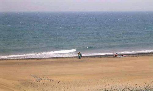 Zdjecie HISZPANIA / Wyspy Kanaryjskie / Gran Canaria / MASPALOMAS - Widok z wydm na ocean