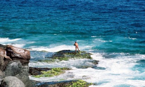Zdjecie HISZPANIA / Wyspy Kanaryjskie / Gran Canaria / Wedkarz w strin
