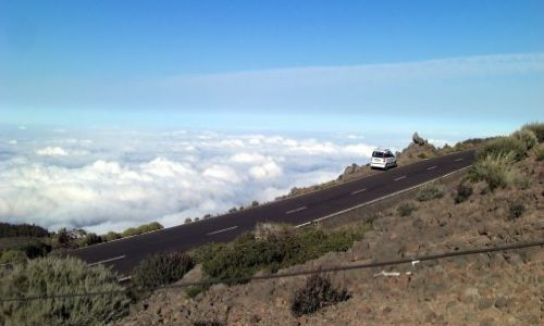 HISZPANIA / La Palma / taburiente / Widok z 2400 m .n.p.m caldera de Taburiente