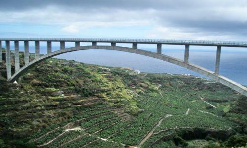 HISZPANIA / La Palma / Los Tilos / Arco de los Tilos najwyzszy most łókowy !!