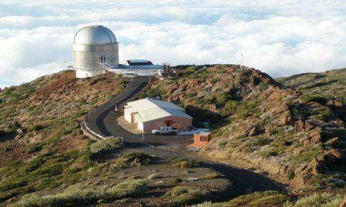 HISZPANIA / La Palma / 2400 Caldera de Taburiente / Obserwatorium na Caldera de Taburiente
