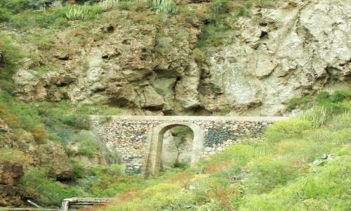 HISZPANIA / Teneryfa / Barranco Del Infierno / Mostek na trasie Barranco Del Infierno