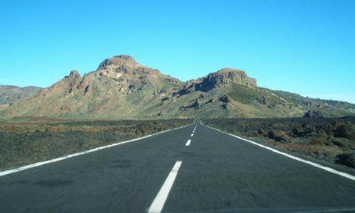 HISZPANIA / Teneryfa / Teide (2100m.np.m) / Droga ku górze