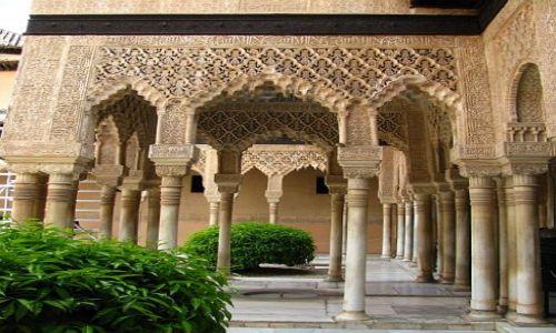 Zdjęcie HISZPANIA / Andaluzja / Grenada / Alhambra - Patio Lwów
