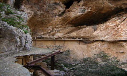 Zdjecie HISZPANIA / Andaluzja / Wąwóz Chorro / Camino del Rey - widok ze ścieżki