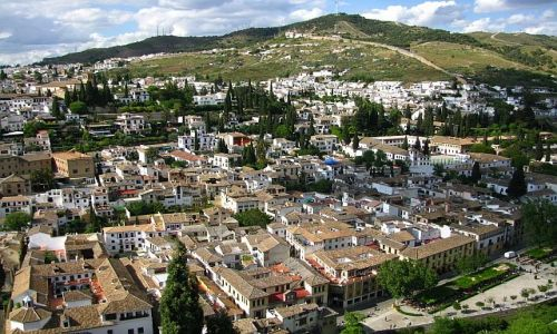 HISZPANIA / Andaluzja / Grenada / wzgórze Sacromonte
