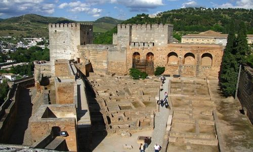 HISZPANIA / Andaluzja / Grenada / Alhambra - Alkazaba
