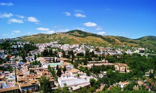 Zdjęcie HISZPANIA / Andaluzja - Granada / Alhambra / Widoki z murów Alhambry